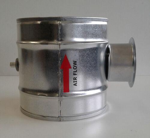 Válvula de mariposa dichtschliessend ventilación DAT NW 200 mm wickelfalzrohr