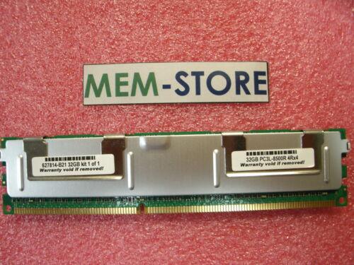 632205-001 627814-B21 32GB PC3-8500R  1066MHz 1.35V Memory  HP ProLiant