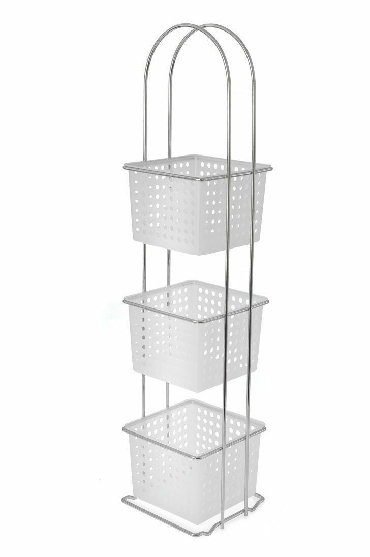 3 Tier Free Standing Square Basket caddy