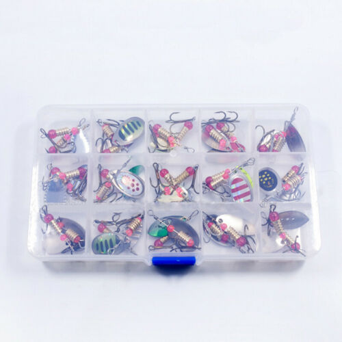 Metal Spinners Sea Fishing Lures Sea Trout Pike Perch Salmon Bass Fishing Tackle