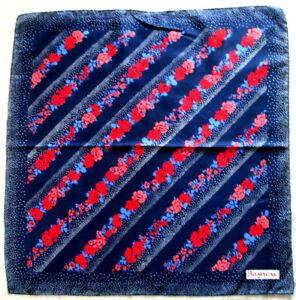 -superbe Foulard Bayron Soie Tbeg Vintage Scarf 76 X 79 Cm
