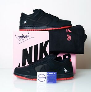 08790c20796 NIKE SB DUNK LOW BLACK PIGEON STAPLE LASERED + SIGNED BOX + TOTE ...