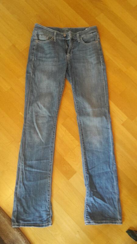 Damen Hose Jeans - Cambio - Blau - Größe 36 - Baumwolle - Hip - Blogger - Model