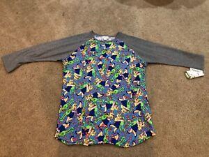 Lularoe Randy Top M Medium Disney Miss Piggy Kermit Hearts Blue Gray Shirt Nwt Ebay