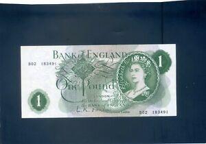 Inghilterra Inglese o`brien una sterlina £ 1 BANKNOTE - #B02 183491