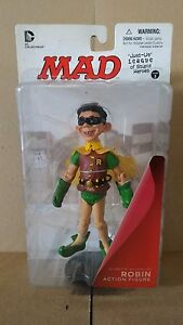 *MAD JUST-US LEAGUE ROBIN ACTION FIGURE DC DIRECT COMICS JUSTICE BATMAN SUPERMAN