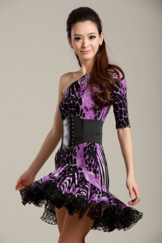 SGD02PKAP S-XL New Women Ballroom Latin Rhythm Salsa Swing Dance Dress