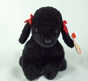 a5870773744 Ty Beanie Baby GiGi 1997 Poodle Dog w  Tag ERRORS Plush Toy RARE PE ...