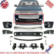 Front Bumper Chrome Steel Kit With Brackets For 2007 2013 Chevy Silverado 1500 Fits 2013 Silverado 1500
