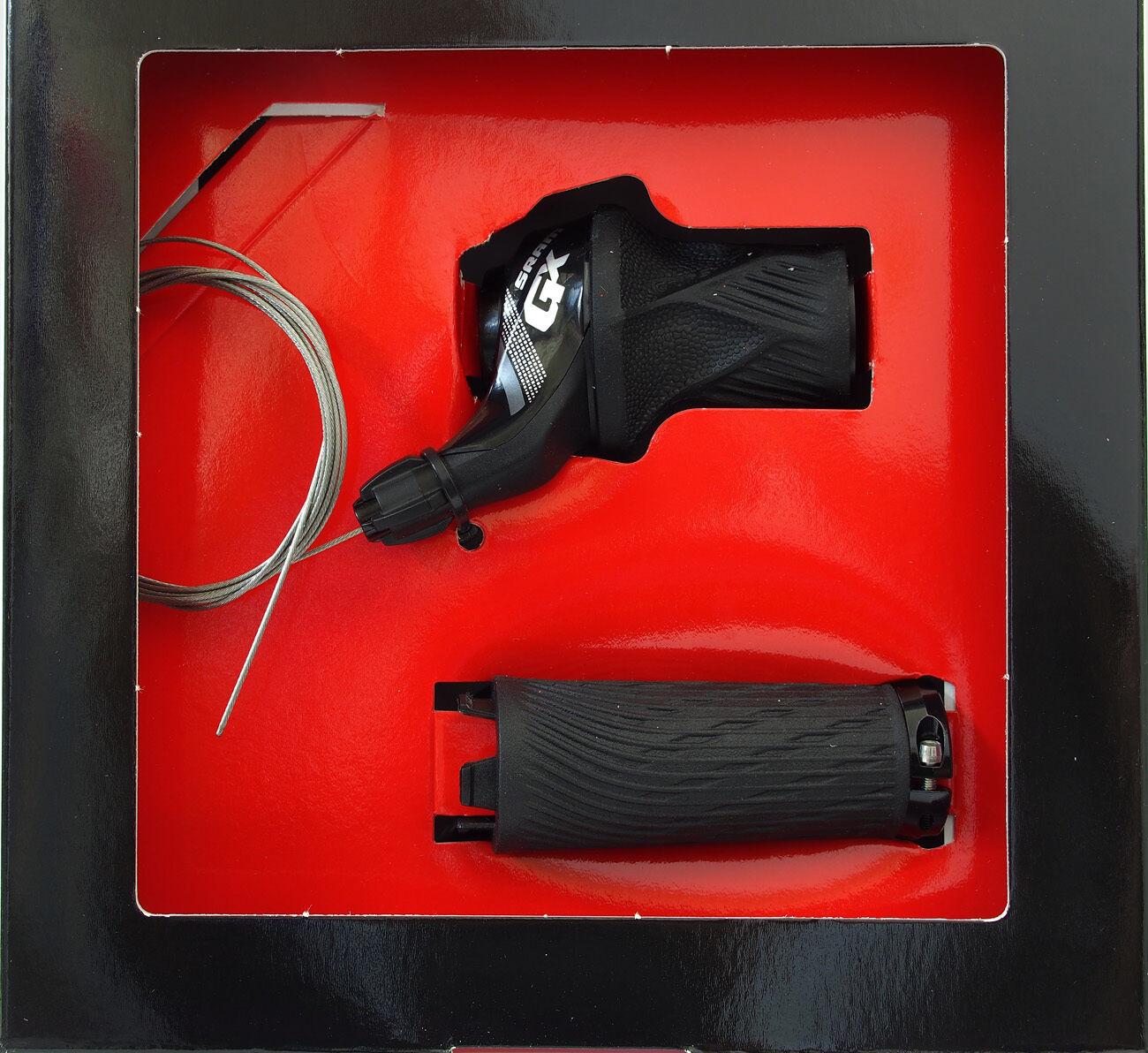 SRAM GX 2 SPD Grip Shift  delantero palanca de cambios negro, Fit Gx 2x11 Grupo, Nuevo En Caja  en promociones de estadios