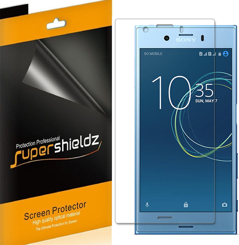 TechSkin Full Coverage Clear HD Film Screen Protector + Back Cover Skinomi Full Body Skin Protector Compatible with Sony Xperia XA Ultra