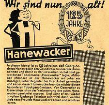 Hanewacker - Männchen: Wir sind nun alt.  Historische Reklame der 40er Jahre