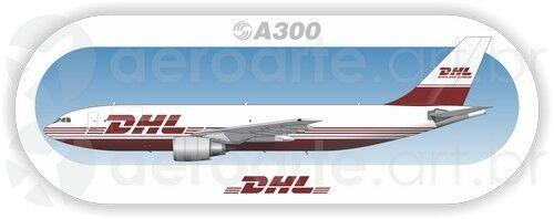 Airbus A300F DHL aircraft profile sticker