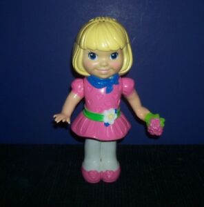 Hard-Plastic-Doll-in-Pink-Dress-Kenner-1991
