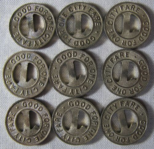Lafayette Indiana Service Co Railway Tokens CHECK OUT DISCOUNTS BELOW whotoldya