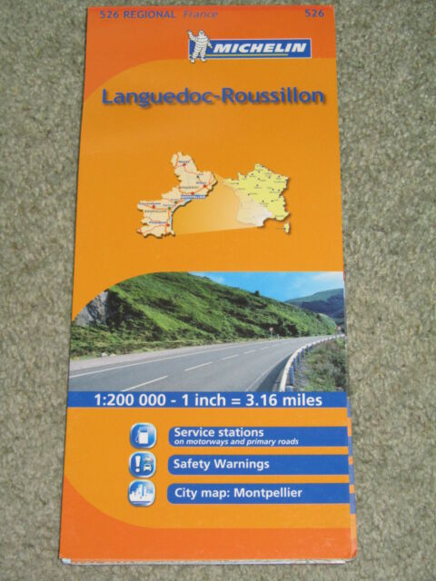 France: Michelin Regional map sheet 526 Languedoc-Roussillon 1:200,000 - 2011