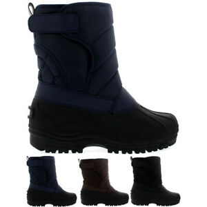 Mens-Nylon-Strap-Muck-Snow-Flat-Rain-Duck-Casual-Warm-Winter-Boots-All-Sizes