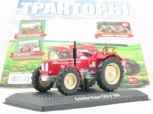 1:43 Schlüter Super 1250 V Traktor Hachette 87 Tractor UdSSR Rad Schlepper NEU
