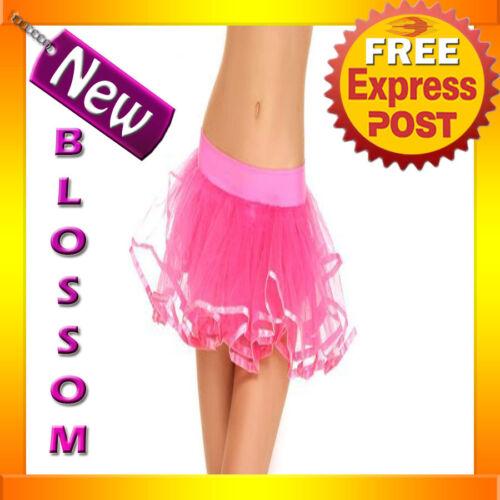 Fancy Dress Costume Pink Petticoat Tutu Skirt 8-14