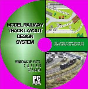 Details about MODEL RAILWAY TRACK DESIGN CAD SOFTWARE CUSTOMIZED LAYOUTS ON  PC-CD EASY TO USE