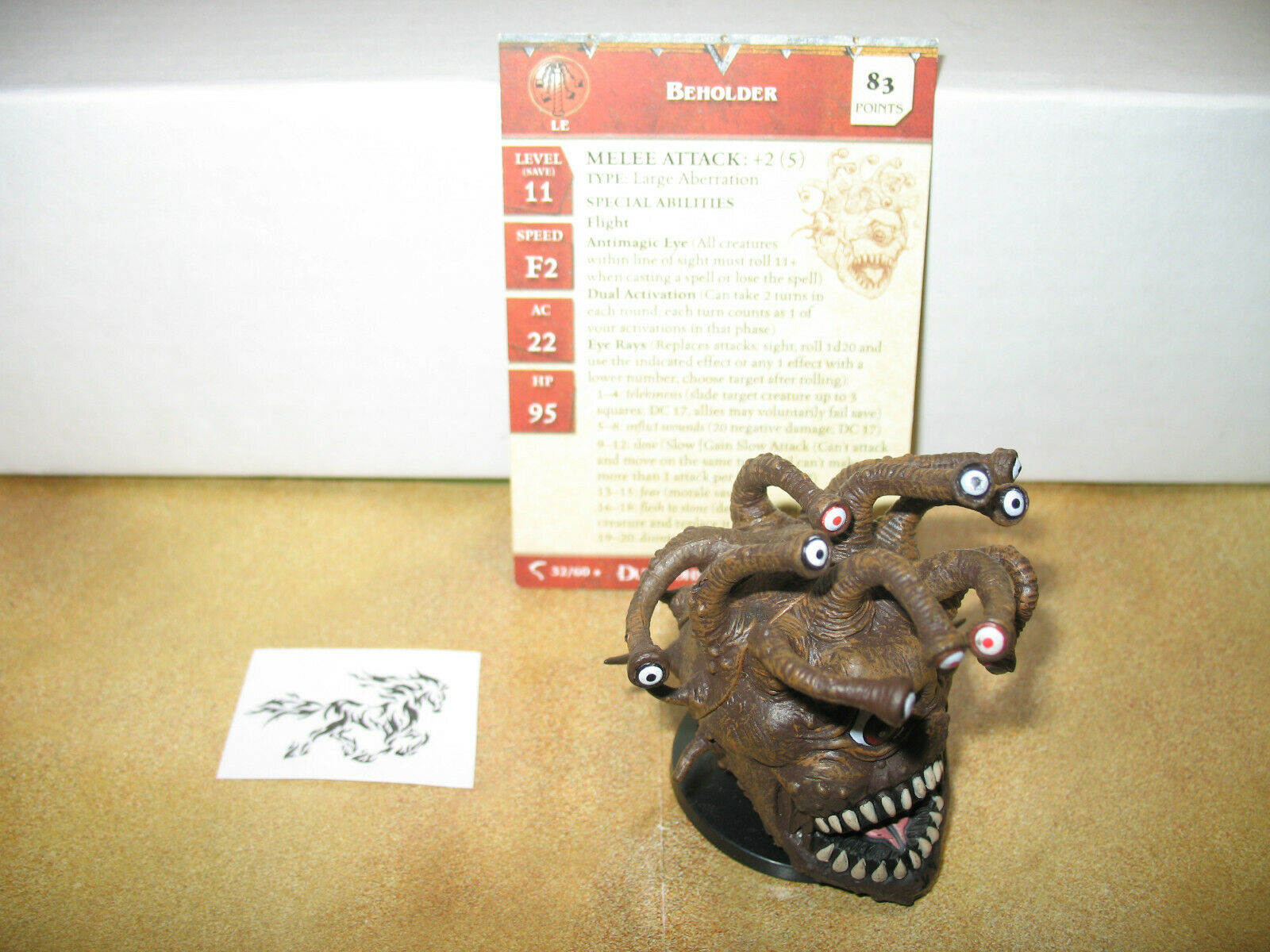 D&D Dungeons & Dragons Deathknell Beholder with card 32 60