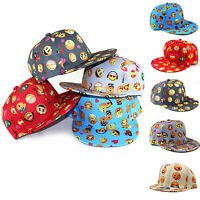 Children Kids Emoji Snapback Baseball Cap Girls Boys Adjustable Hip-hop Sun Hat