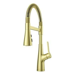 Pfister Neera Single-Handle Culinary Pull-Down Sprayer Kitchen Faucet in Brushed