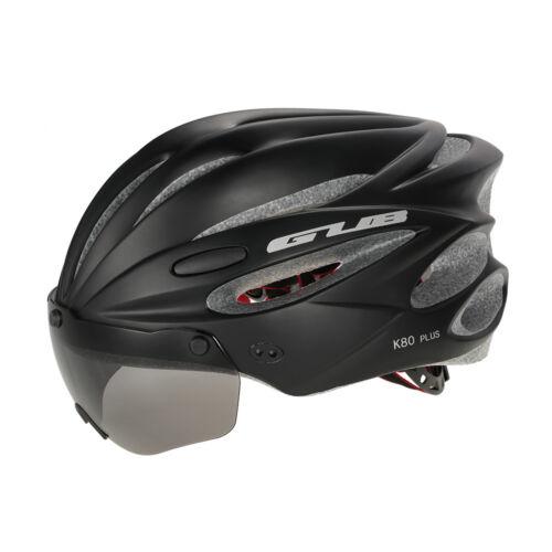 Ultralight Bicycle Helmet Adjustable Bike Cycling Helmets with Lens Visor