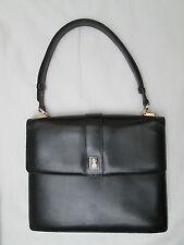 -AUTHENTIQUE sac à main BURBERRY cuir TBEG vintage bag 60's