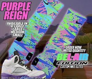 ad07bc97f8b9 NIKE AIR RETRO JORDAN V 5 BEL-AIR Custom Nike Elite Socks (ALL SZ ...