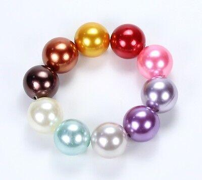 Perlen IMITAT Glasperlen Glaswachs Perlen 25stk BUNT-MIX 10mm FARBWAHL