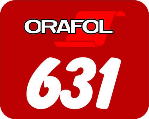 "24/"" x 50 Yards Oracal 631 Intermediate Vinyl 150 ft Red 031"