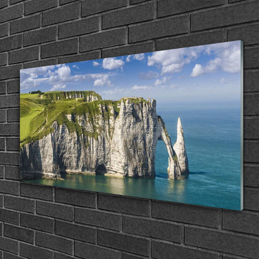 Image sur verre Tableau Impression 100x50 Paysage Mer Rock