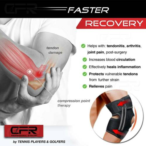 Elbow Brace Support Arm Band Pads Wraparound Compression Tennis Guard Men Women
