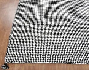Details About Uk Rugs 5 X8 Houndstooth Handmade Flat Weave Dhurry 100 Woolen Carpets