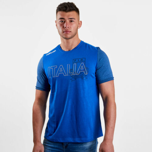 Macron Mens Italy 2018//19 Cotton Supporters Rugby T-Shirt Sports Top Tee