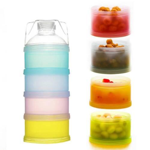 3//4 Layer Baby Formula Dispenser Stackable Milk Powder Storage Snack Container