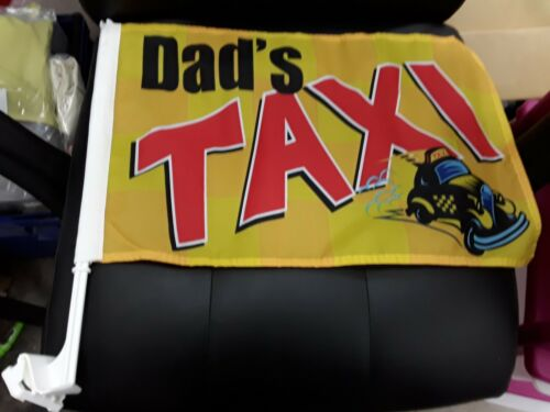 1 PACK NEW DADS TAXI  CAR WINDOW FLAG