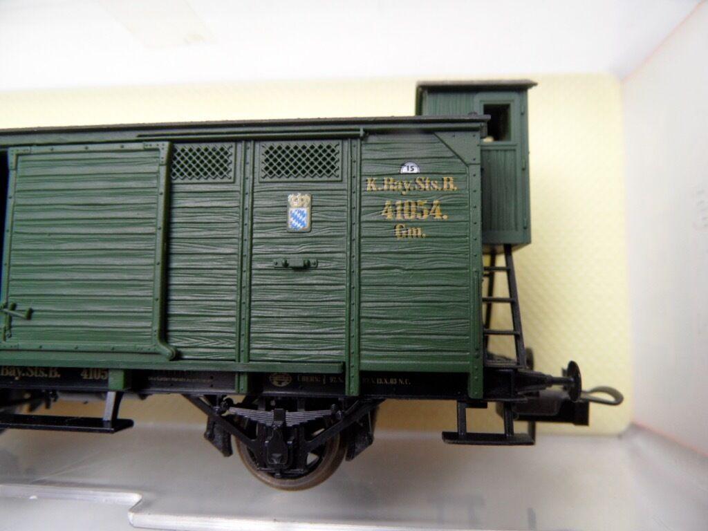 Trix Trix Trix 52 3601 00 - HO - ged. Güterwagen der K.Bay.Sts.B. m.BH - NEUWERTIG in OVP  | eine große Vielfalt  13b21a