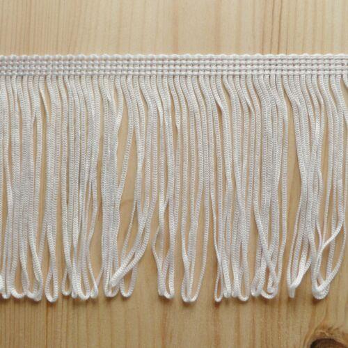 Craft por metros Vestido blanco en bucle franja de 10cm de ancho 4 pulgadas de ancho moda