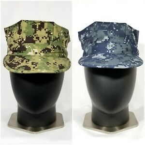 Details about NWU US Navy Working USN Utility 8 Point Cap/Hat Green  AOR2/Blue Digital Type 1