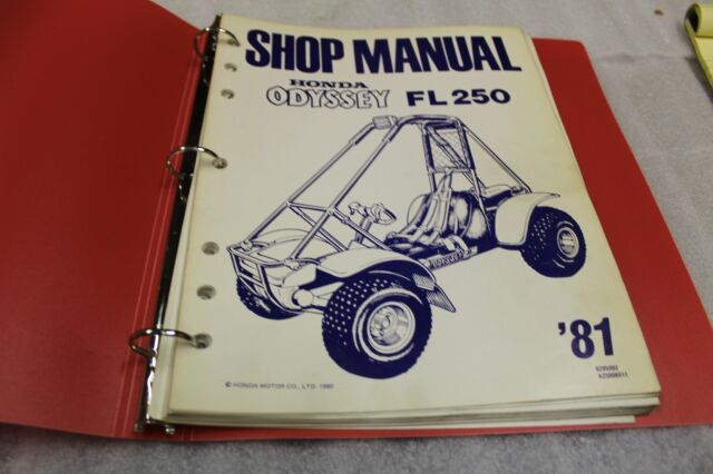 Honda Fl250 Odyssey Oem Service Manual   Service Bulletin