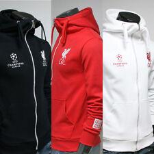 Free Gift + Liverpool FC Full Zip Hoodie Jacket Turtleneck Hooded Sweatshirts