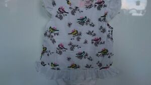 Baker-baby-girl-summer-top-tunic-outfit-with-built-in-vest-0-3-months-worn-once