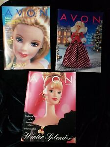 Lot-of-3-Vintage-AVON-BARBIES-Products-Catalogs-Brochures-Books-1997-1998-2000
