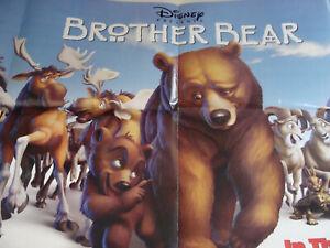 Disney 2 Sided Movie Poster Brother Bear 2003 21 X 50 New Ebay
