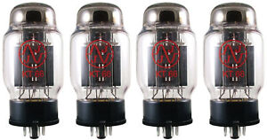 4x NEW JJ Tesla KT66 Vacuum Tubes Matched Quad TESTED