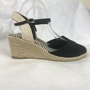 M\u0026S Shoes 8 Wide Fit Black Espadrille