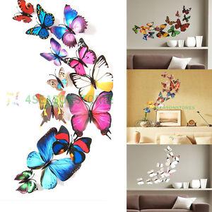 12-Pcs-3D-PVC-Butterflies-DIY-Butterfly-Art-Decal-Home-Decor-Wall-Mural-Stickers