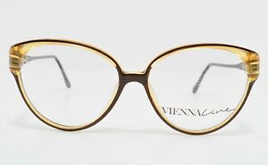 VIENNALINE-Optyl-Vintage-Brille-mod-1433-10-Eyeglass-Frame-Austria-Cat-Eye-Lady